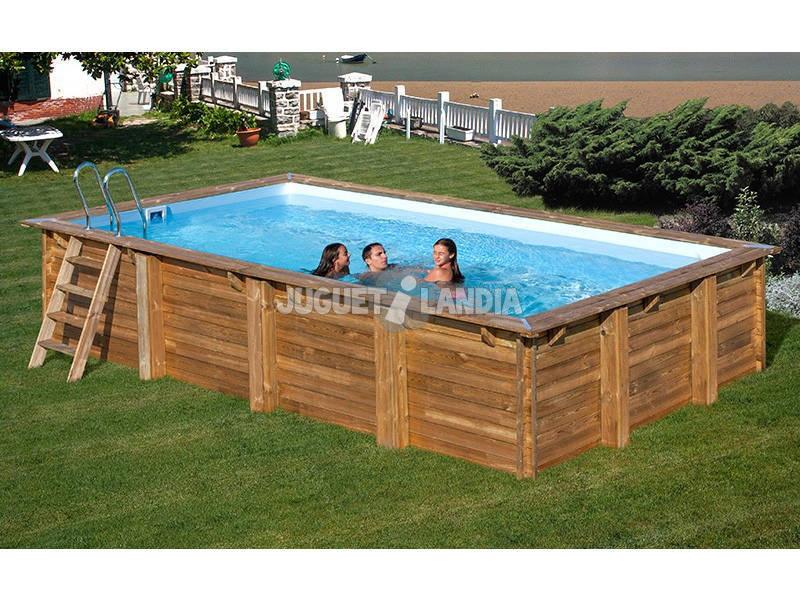 Acheter piscine bois gre braga terrapools 800x400x146 cm for Acheter piscine en bois