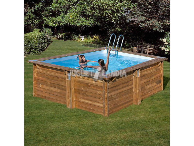 Acheter piscine bois gre carra terrapools 300x300x119 cm for Acheter piscine bois