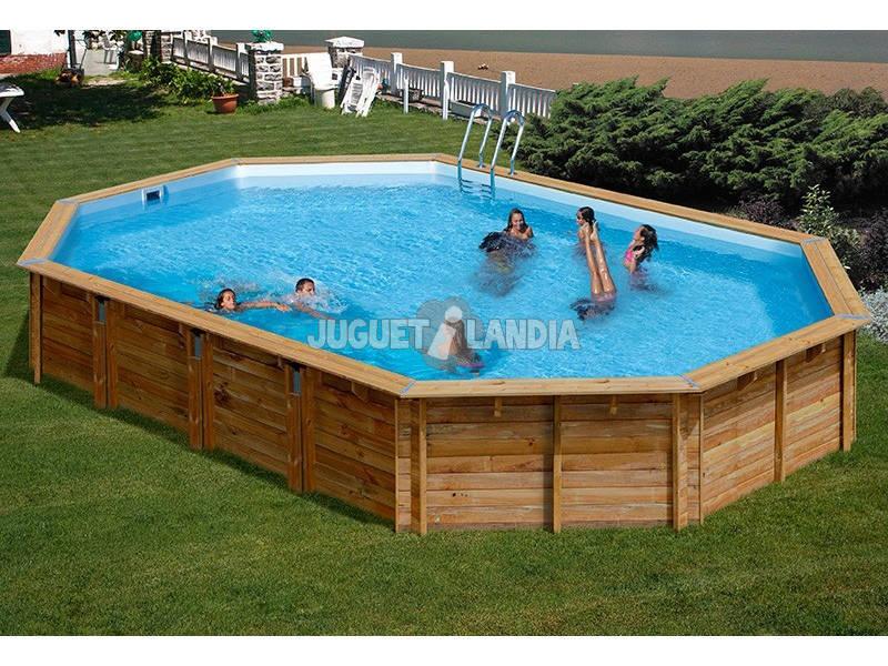 Acheter piscine bois gre vermela terrapools 672x472x146 cm for Acheter piscine bois