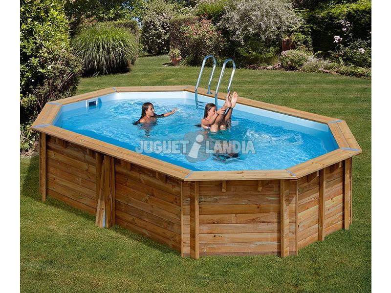Acheter piscine bois gre grenade terrapools 436x336x119 cm for Acheter piscine bois