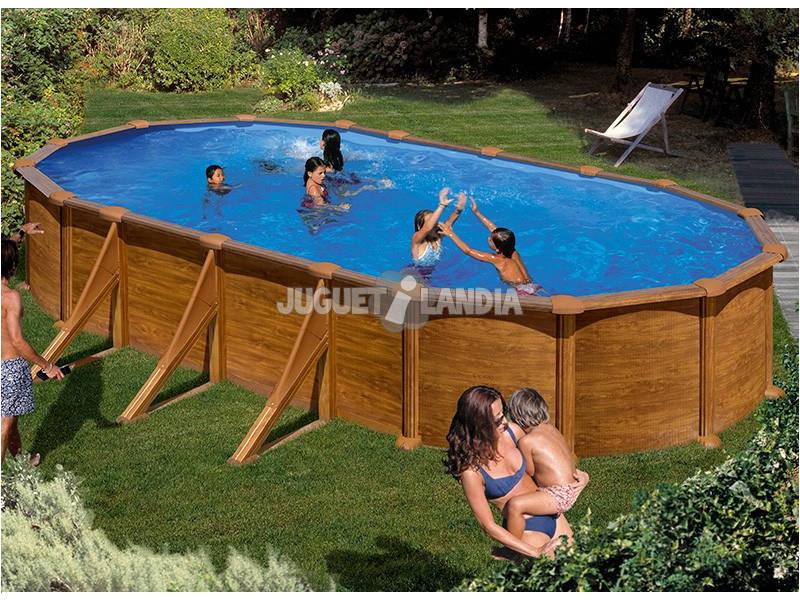Acheter piscine gre imitation bois mauritius 500x375x132 for Acheter piscine bois