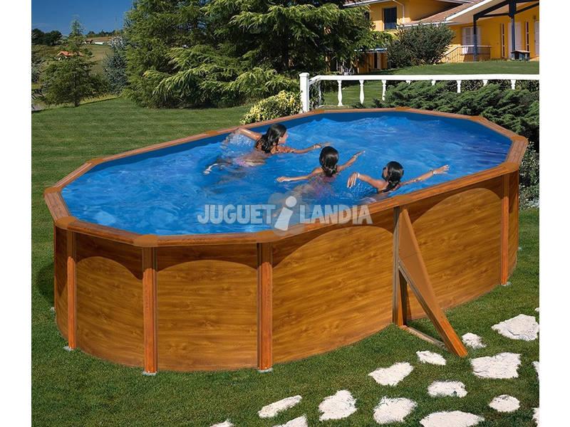 Acheter piscine gre imitation bois maldivas 500x350x132 cm for Acheter piscine bois