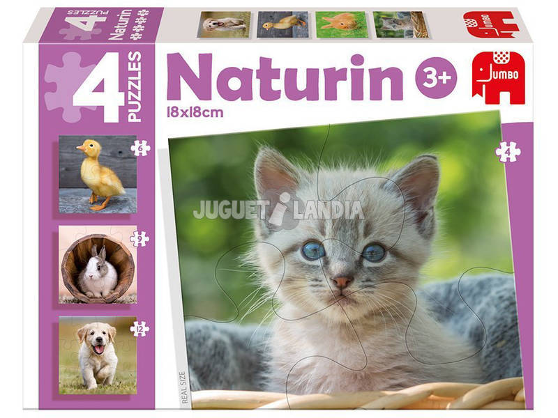 Puzzle Infantil Educativo Naturin Foto Animals
