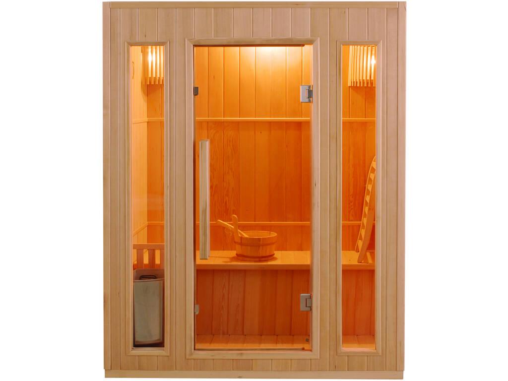 Sauna Tradicional Zen -3.5 Kw - 3 Plazas Poolstar SN-ZEN-3