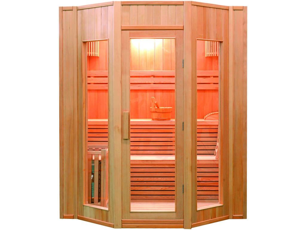 Sauna Tradicional Zen -6 Kw - 4 Plazas Poolstar SN-ZEN-4