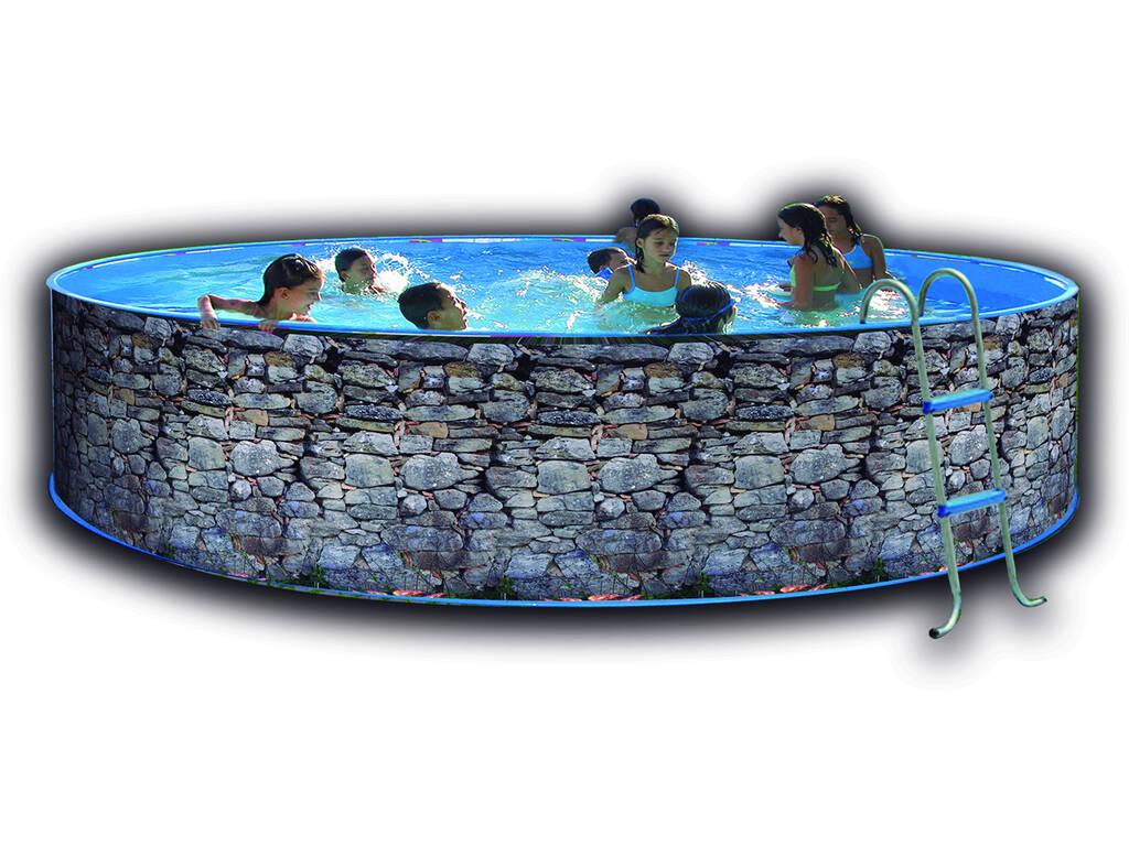 Piscina de Pedra Cinzento 450x90 Cm. Toi 8140