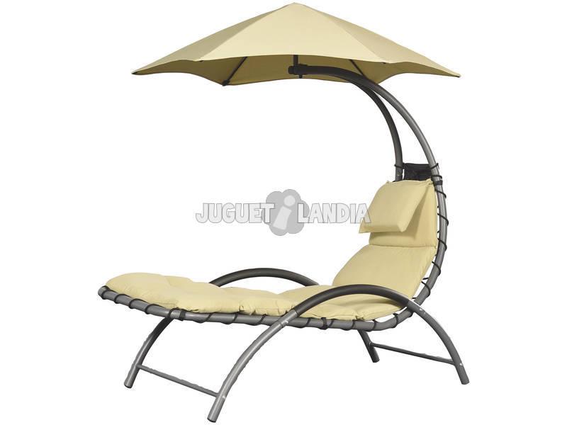 Espreguiçadeira Suspensa Nest Lounge - Cor Areia