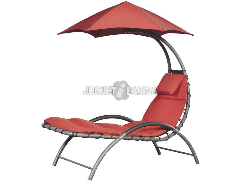 Espreguiçadeira Suspensa Nest Lounge - Cor Vermelha