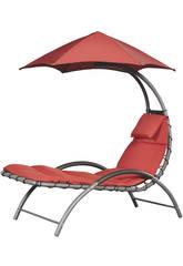 Poltrona a Dondolo Sospesa Nest Lounge- Color Rosso