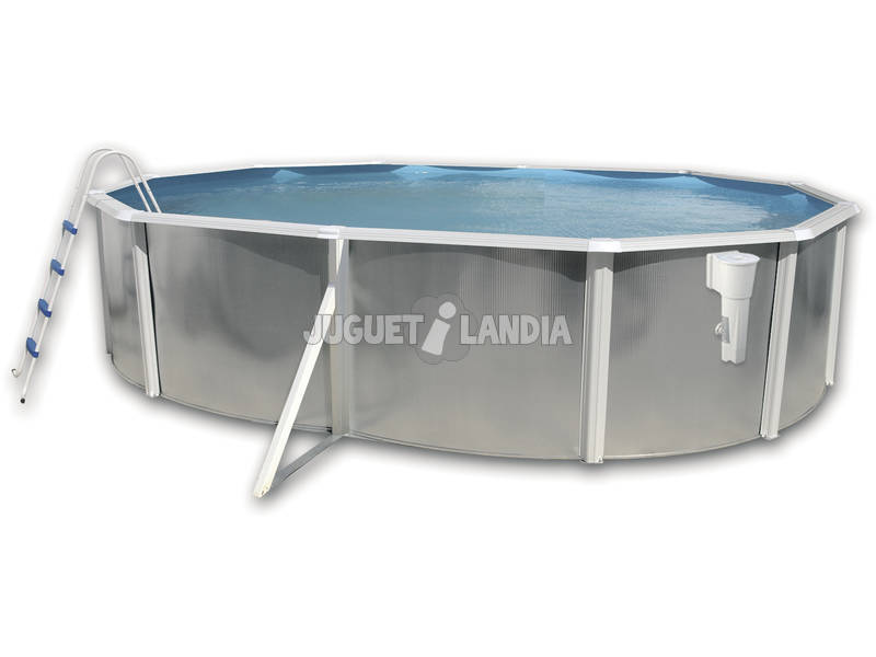 Silver Luna branca Piscina 550x366x120 Cm. Toi 8242