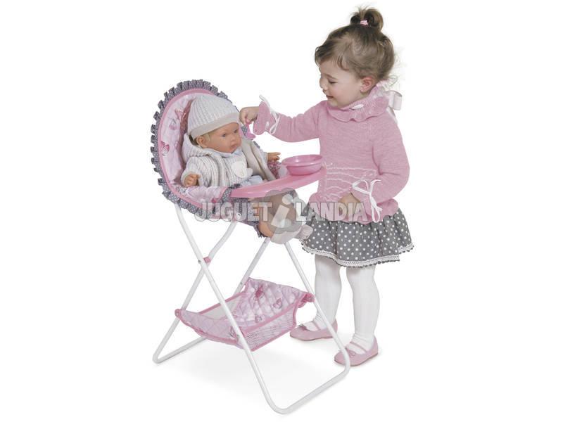 acheter chaise haute pliable avec accessoires maria juguetilandia. Black Bedroom Furniture Sets. Home Design Ideas