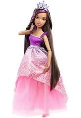 Barbie Gran Princesa 43 cm. Morena