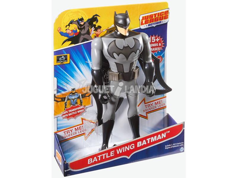 Figura Batman Liga da Justiça 30cm Luz e Sons 30x13cm Mattel FFM04