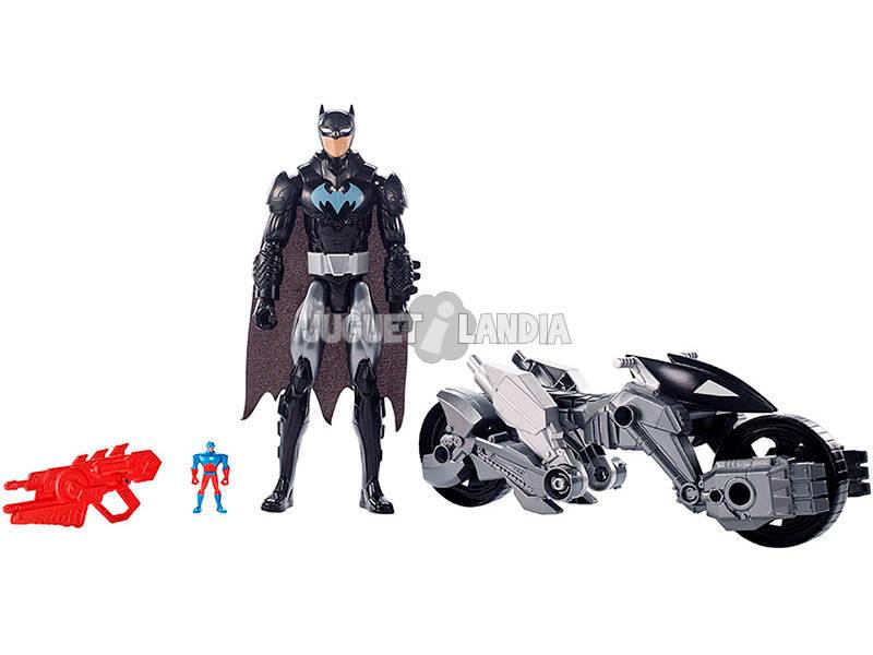 Justice League Figura 30 cm. Com Veículo Mattel FBR10