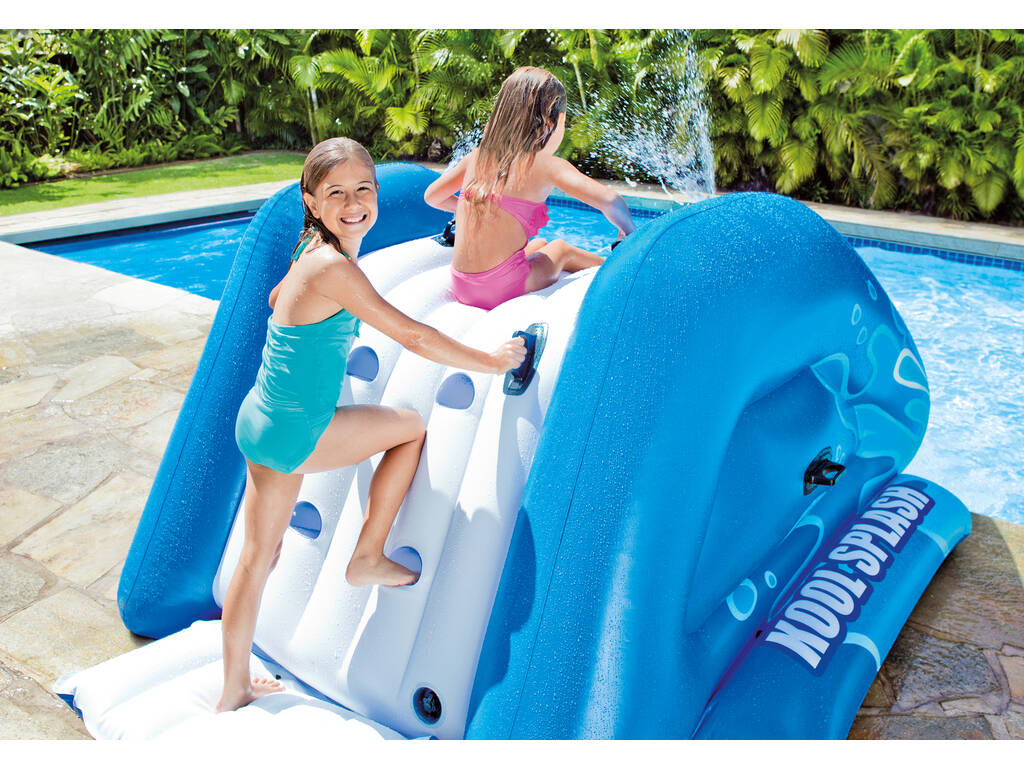 Tobog n hinchable para piscinas 333x206x117cm intex 58849 juguetilandia - Tobogan hinchable para piscina ...
