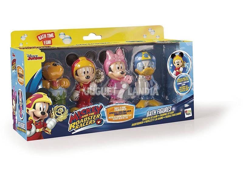 Mickey y Sus Pilotos 4 Figuras de Baño IMC Toys 182776