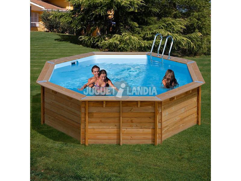 Acheter piscine bois gre vanille terrapools 412x119 cm for Piscine venelle