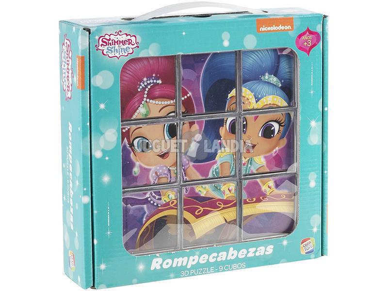 Puzzle Quebra - cabeças Shimmer And Shine 9 Cubos Cefa Toys 88246