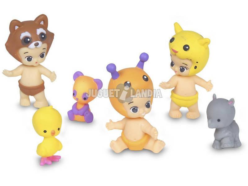 Figuras Twozies 3 Babies com 3 Bichos Giochi Preziosi TW0
