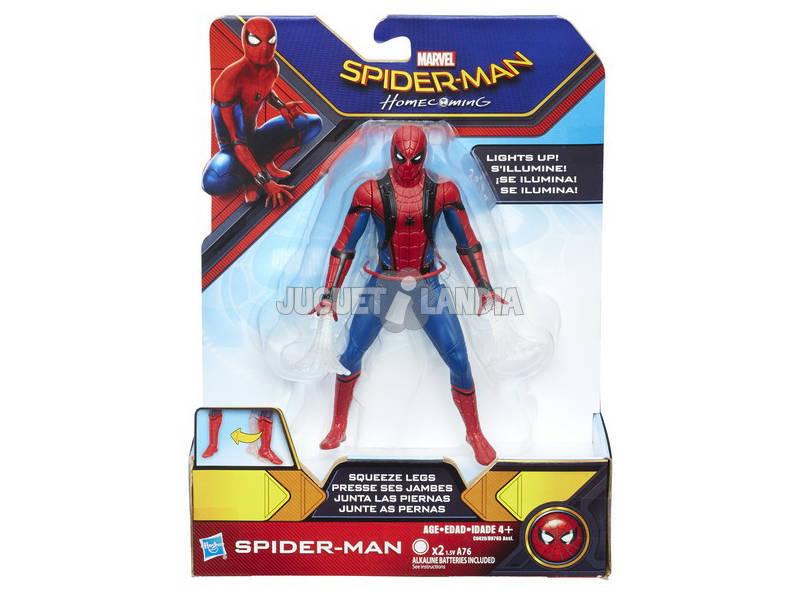 Spiderman Web City Lança Teias 15 cm.