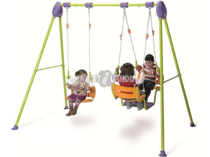 Columpio infantil silla y gondola 247x197x162cm injusa - Columpio infantil jardin ...