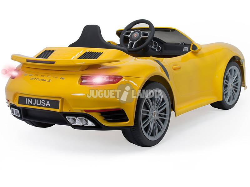 acheter voiture batterie porsche 911 turbo s 6v jaune injusa 7182 juguetilandia. Black Bedroom Furniture Sets. Home Design Ideas