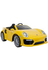 Voiture à Batterie Porsche 911 Turbo S 6v Jaune Injusa 7182