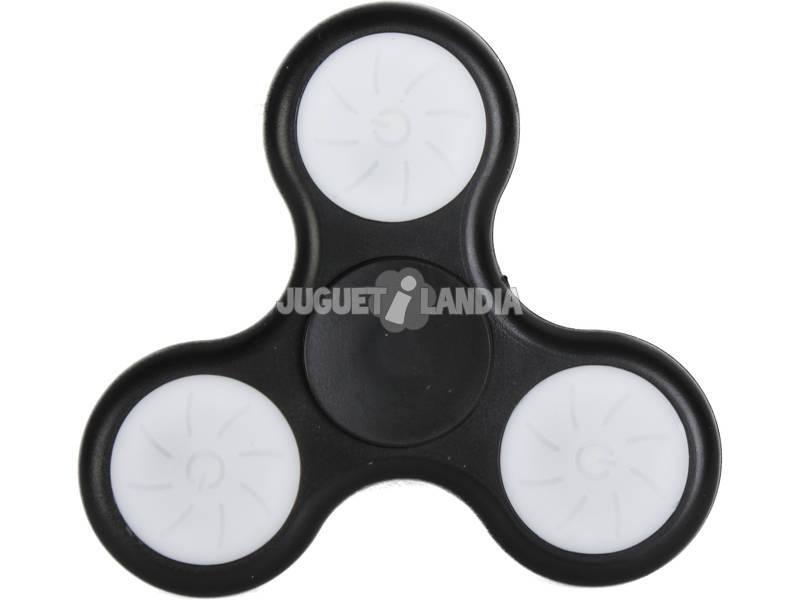 Pack 6 Fidget Spinner Luz Led 7x7x1.2 cm.