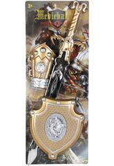 imagen Set Caballero del Dragon Aureo con Espada, Escudo y Brazalete