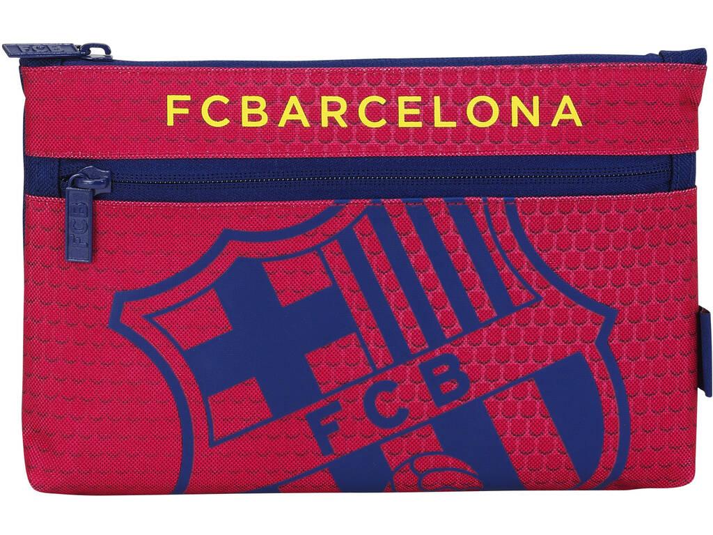 Estojo Porta Tudo 2 Ziperes Grande F.C. Barcelona Oficial