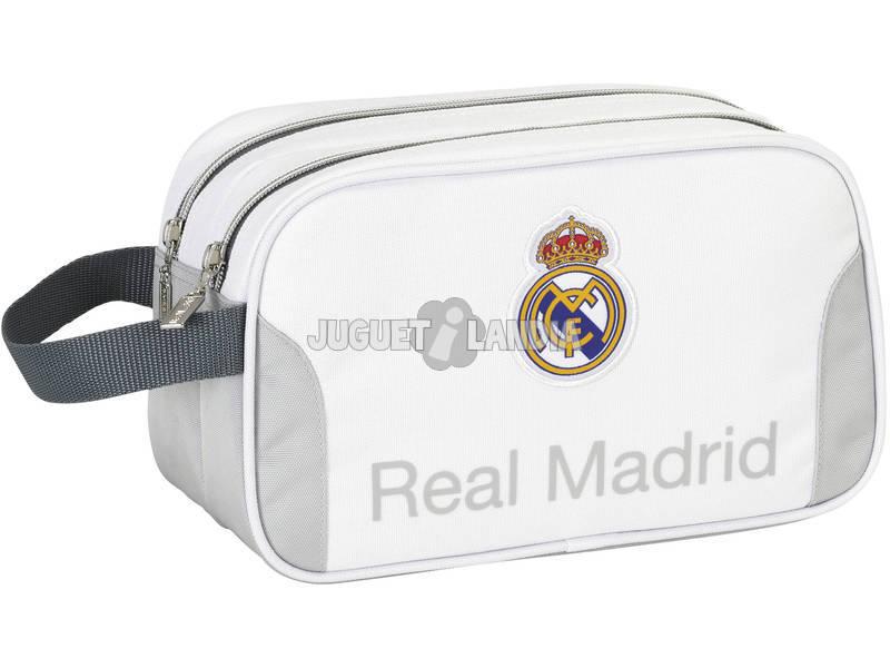 Necessáire 2 Zíperes Real Madrid Oficial
