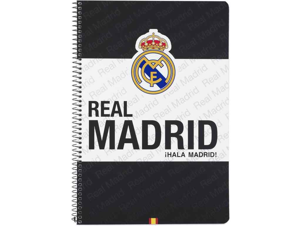 Caderno Folio Tapas Duras 80 h. Real Madrid Oficial