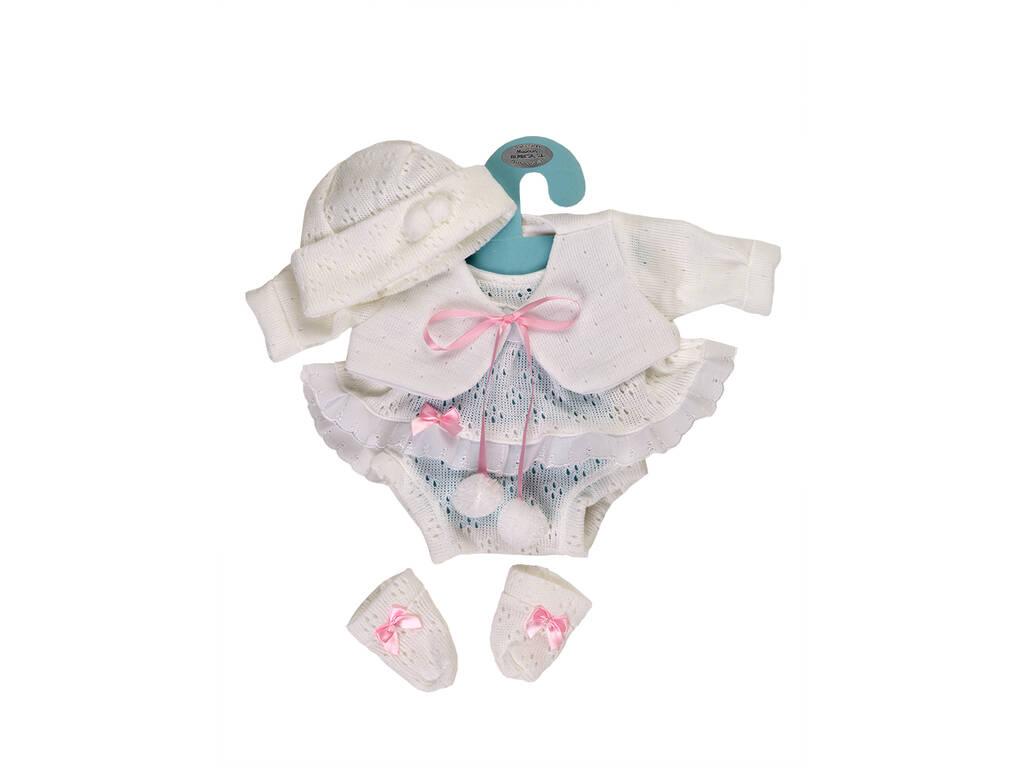 Vestido Boneca Recém Nascida 42 cm. Branco Berbesa 5102