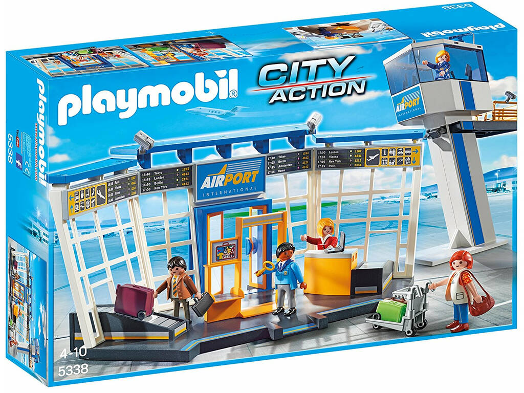 Playmobil Torre de Controlo e Aeroporto