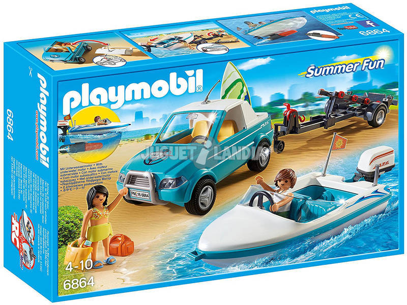 Playmobil Pick Up con Lancha