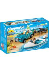 Playmobil Summer Fun Surfisti con Pick up e Motoscafo