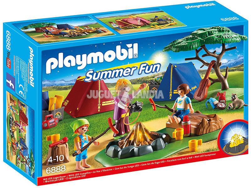 PLAYMOBIL acampamento com Fogata