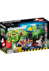 imagen Playmobil Slimmer contra Stand the Hot Dog Ghostbusters 9222