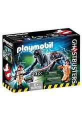 Playmobil Venkman, Dana y Chiens de Gozer Ghostbusters