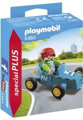 imagen Playmobil Niño con Kart 5382