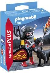 Playmobil Guerrier avec Loup 5385