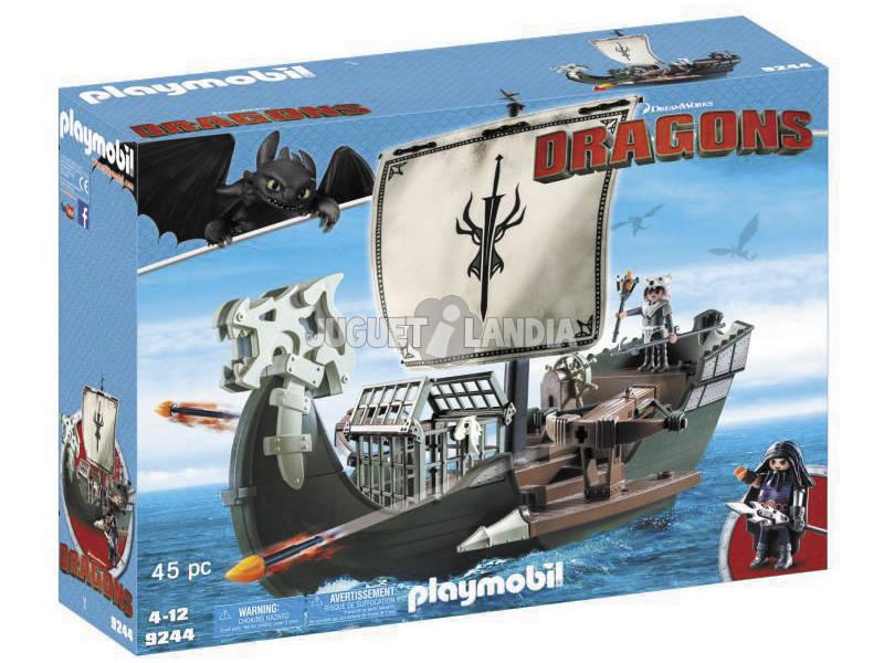 Playmobil Como Treinar o Seu Barco-Dragão de Drago 9244