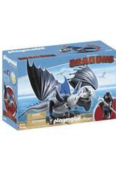 Playmobil Cómo Entrenar a Tu Dragon Drago y Dragón con Armadura 9248