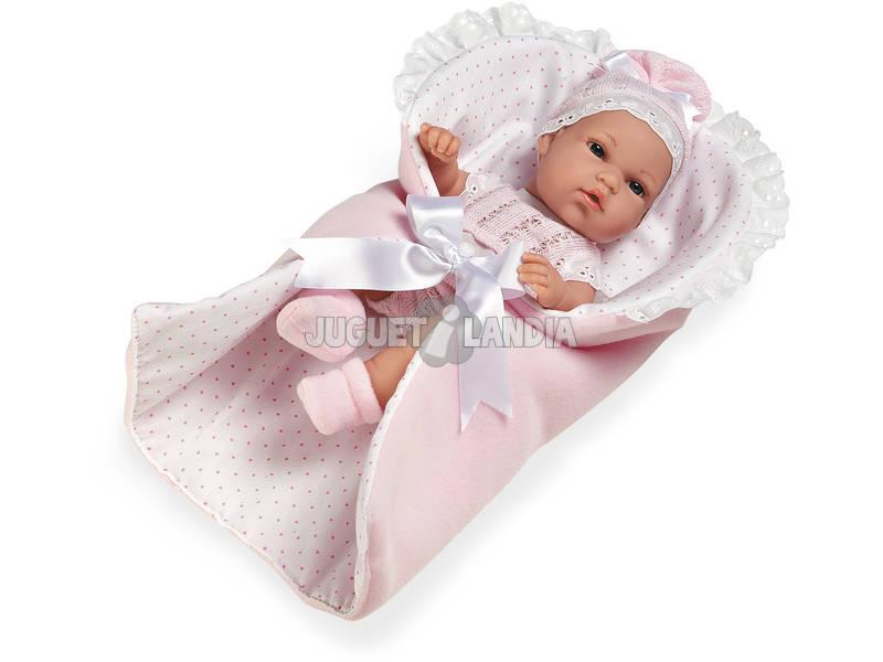Boneca 33 cm. Elegance Natal Rosa Com Nana
