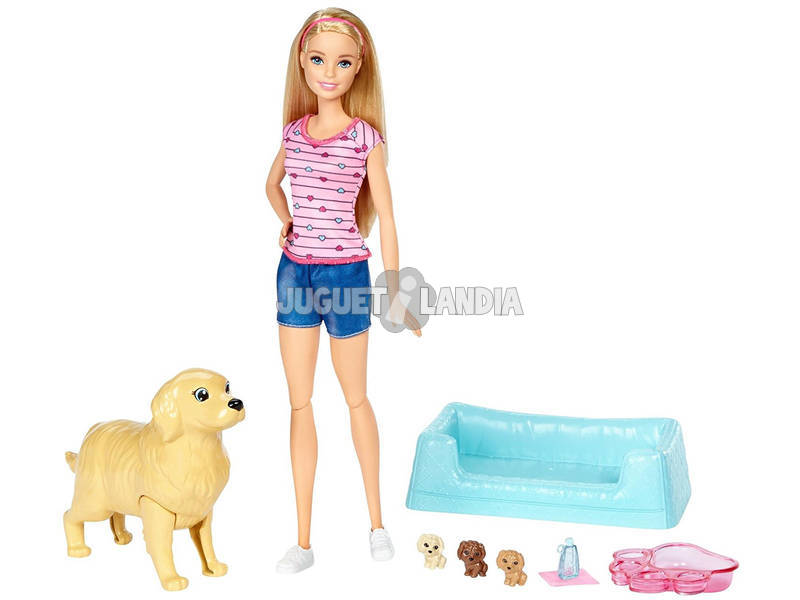 Barbie e seus filhotes de cachorro Surpresa Mattel FDD43