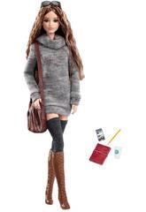Figurine Barbie Look Avec Accessoires Collection Gris 29 cm Mattel DYX63