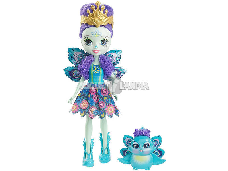 Enchantimals Muñeca y Mascota Pavo Real Mattel DYC76