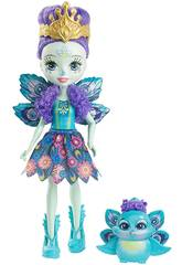 Bambola Enchantimals Patter Peacock con Cucciolo Mattel