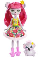 Enchantimals Poupée et Animal de Compagnie Koala Mattel FCG64