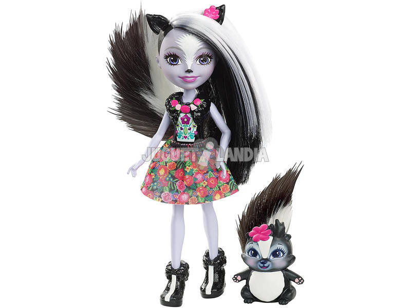Enchantimals Boneca e Mascote Skunk Mattel DYC75
